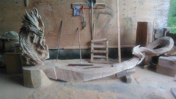 Удивительные работы Игоря Лоскутова. А вы бы хотели присесть на такую скамью? | 4