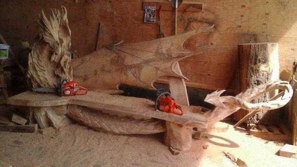 Удивительные работы Игоря Лоскутова. А вы бы хотели присесть на такую скамью? | 5