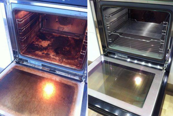 До смешного простой способ почистить духовку до блеска!
