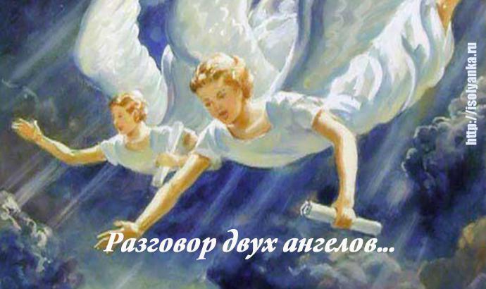 Разговор двух ангелов в небесной канцелярии... | 1