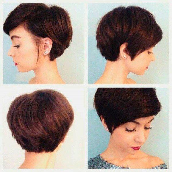 Модные прически на короткие волосы и волосы средней длины | 13