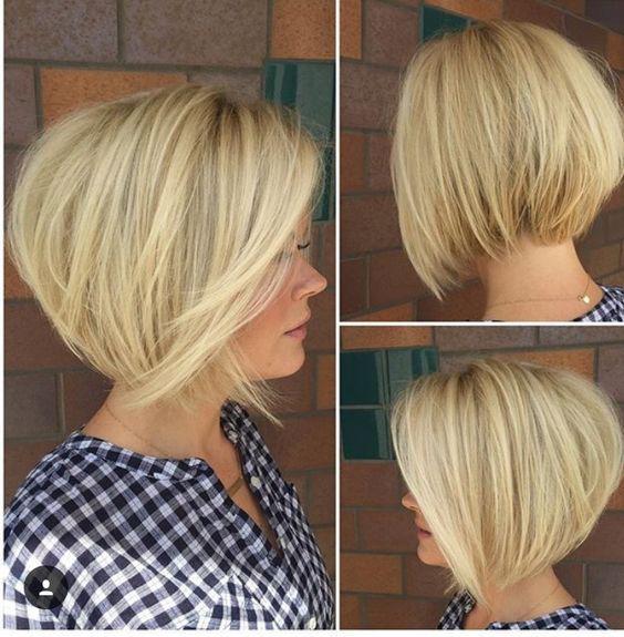 Градуированное каре для коротких и средних волос: 30 вариантов | 6