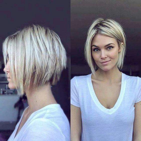 Градуированное каре для коротких и средних волос: 30 вариантов | 8