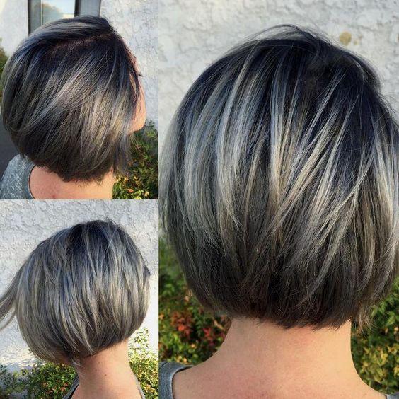 Градуированное каре для коротких и средних волос: 30 вариантов | 1