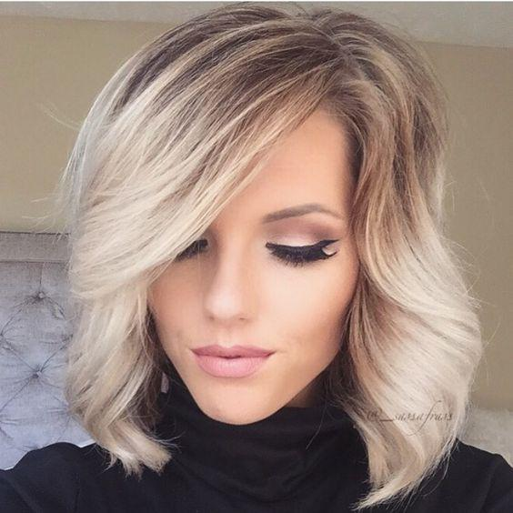 Градуированное каре для коротких и средних волос: 30 вариантов | 18