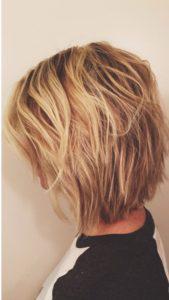 Градуированное каре для коротких и средних волос: 30 вариантов | 17