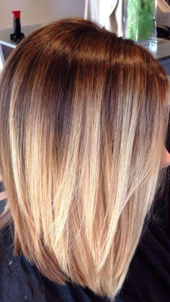 Градуированное каре для коротких и средних волос: 30 вариантов | 20