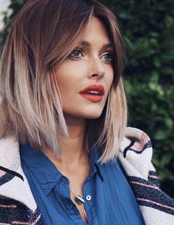 Градуированное каре для коротких и средних волос: 30 вариантов | 25