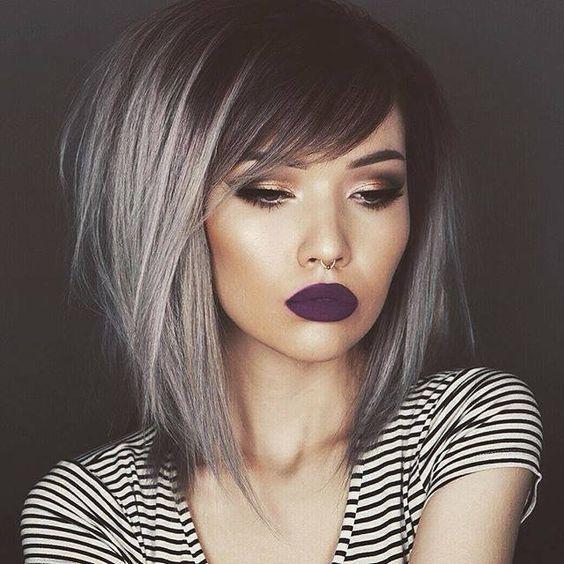 Градуированное каре для коротких и средних волос: 30 вариантов | 26