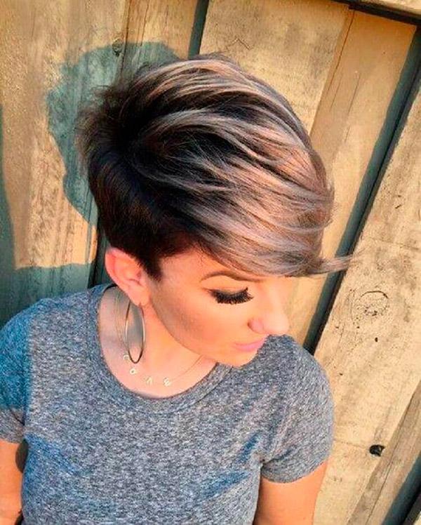 Модные прически на короткие волосы и волосы средней длины | 15