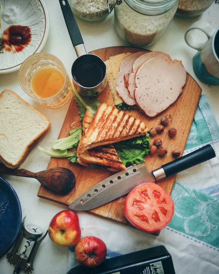 """""""Клаб-сэндвич"""" на завтрак — приготовь для любимой!"""