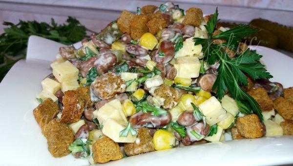 Шустрый салат — быстро готовится и еще быстрей съедается! | 1