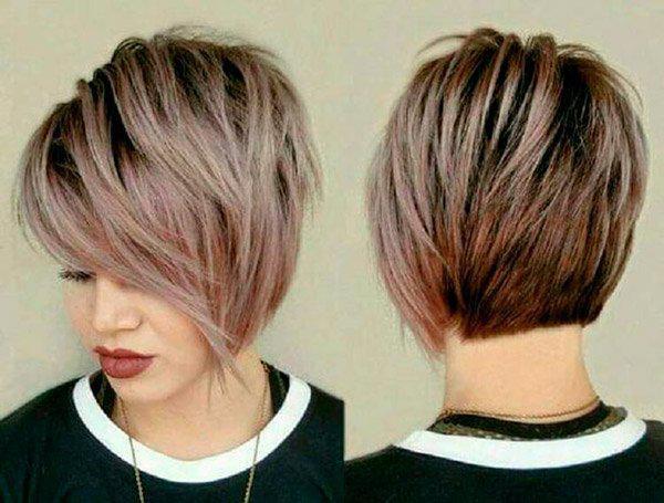 Модные прически на короткие волосы и волосы средней длины | 7