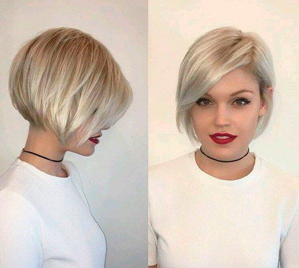 Модные прически на короткие волосы и волосы средней длины | 10