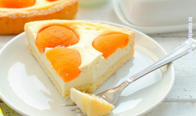 Чудесный творожный пирог с консервированными абрикосами - идеальное сочетание ингредиентов! | 1