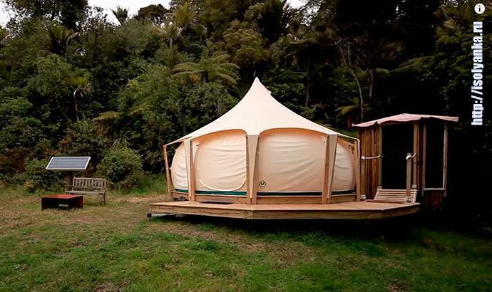 Мужчина продав дом переехал жить в палатку. Посмотрите, на нее изнутри! | 1