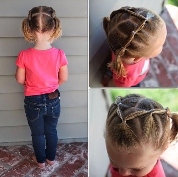 Для маленьких принцесс: 35 шикарных причесок на короткие волосы! | 10
