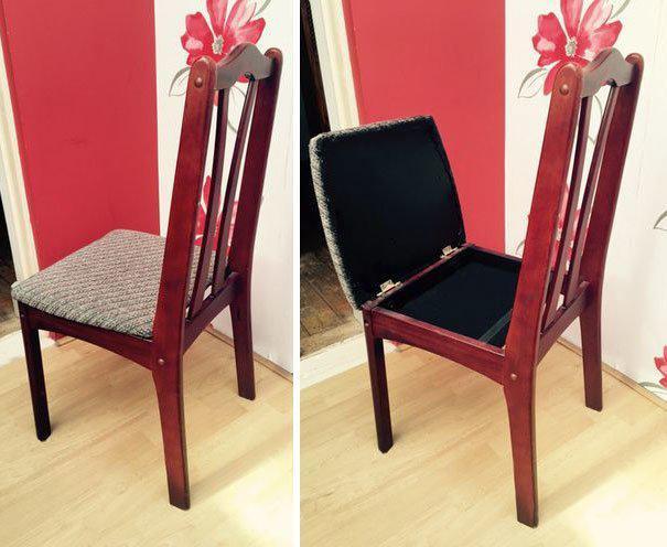 Тайник в стуле где спрятаться, забавно, неожиданно, познавательно, потайное место, секрет, тайна, тайник
