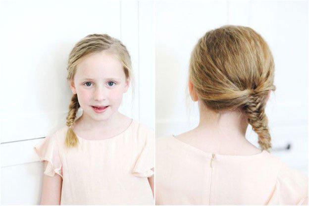 Для маленьких принцесс: 35 шикарных причесок на короткие волосы! | 12
