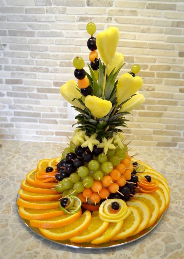 Простые, но красивые варианты фруктовой нарезки