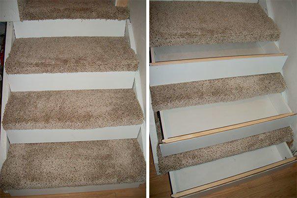 Потайной шкафчик в ступеньках лестницы где спрятаться, забавно, неожиданно, познавательно, потайное место, секрет, тайна, тайник