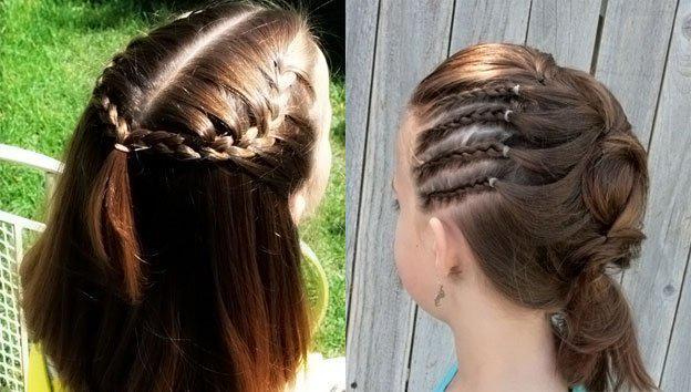 Для маленьких принцесс: 35 шикарных причесок на короткие волосы! | 15