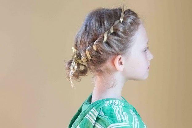 Для маленьких принцесс: 35 шикарных причесок на короткие волосы! | 21
