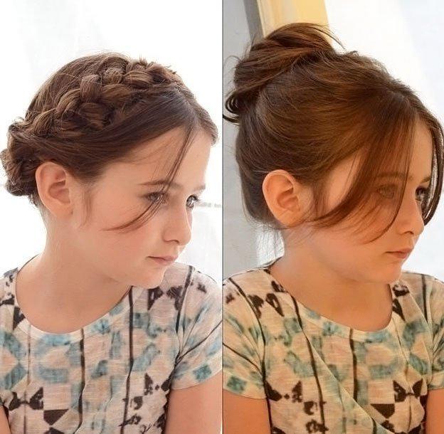Для маленьких принцесс: 35 шикарных причесок на короткие волосы! | 22
