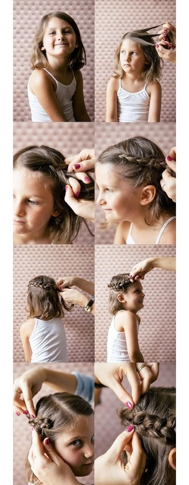 Для маленьких принцесс: 35 шикарных причесок на короткие волосы! | 24