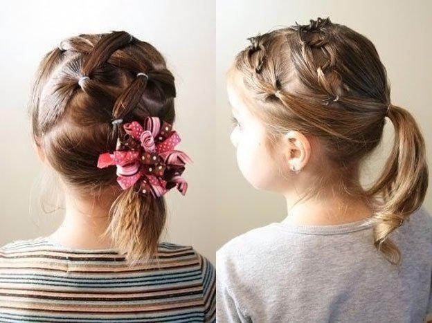 Для маленьких принцесс: 35 шикарных причесок на короткие волосы! | 3