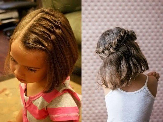 Для маленьких принцесс: 35 шикарных причесок на короткие волосы! | 4