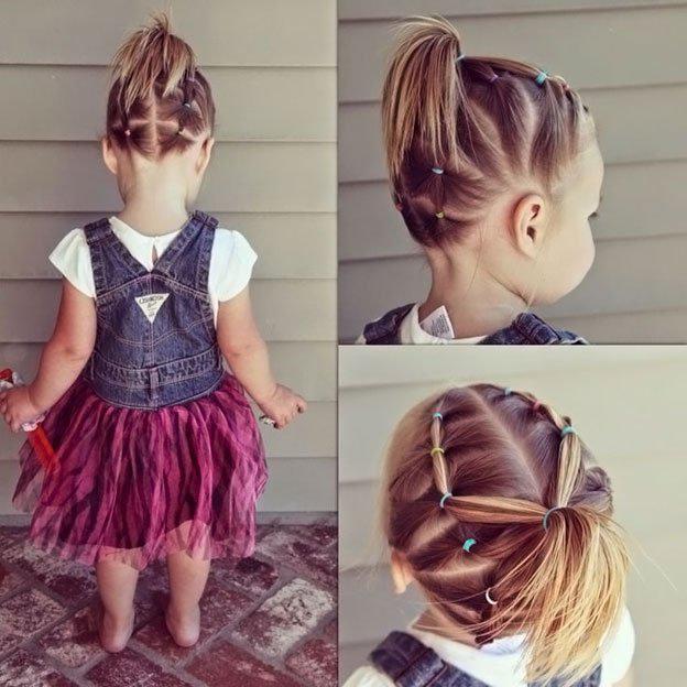 Для маленьких принцесс: 35 шикарных причесок на короткие волосы! | 8