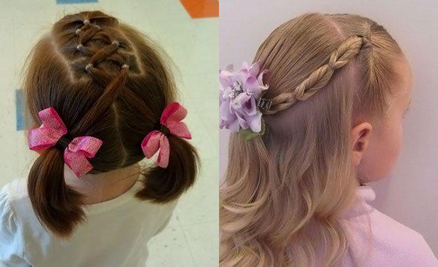 Для маленьких принцесс: 35 шикарных причесок на короткие волосы! | 9