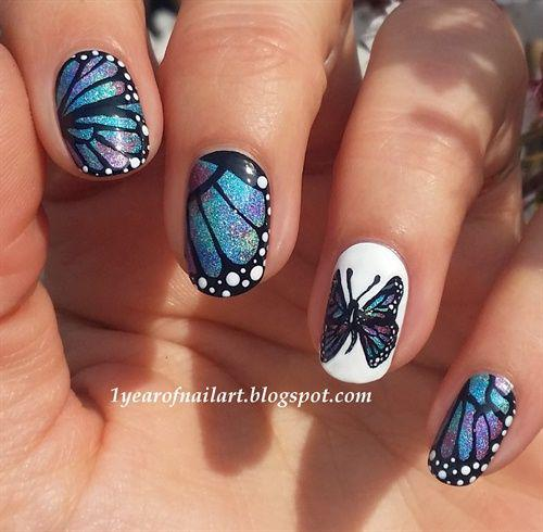 32 бесподобных варианта для маникюра «Крылья бабочки»