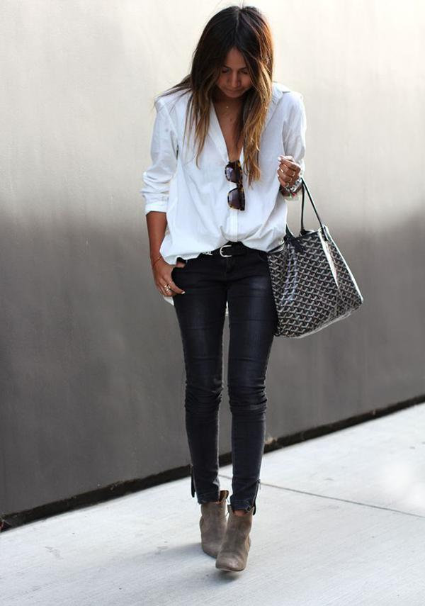 20 великолепных образов с белой блузкой | 10