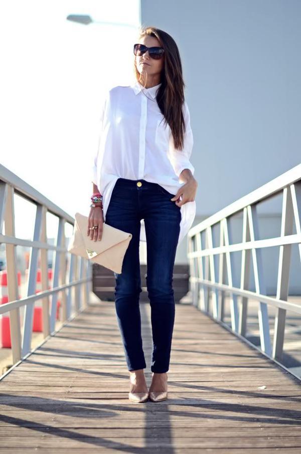 20 великолепных образов с белой блузкой | 11