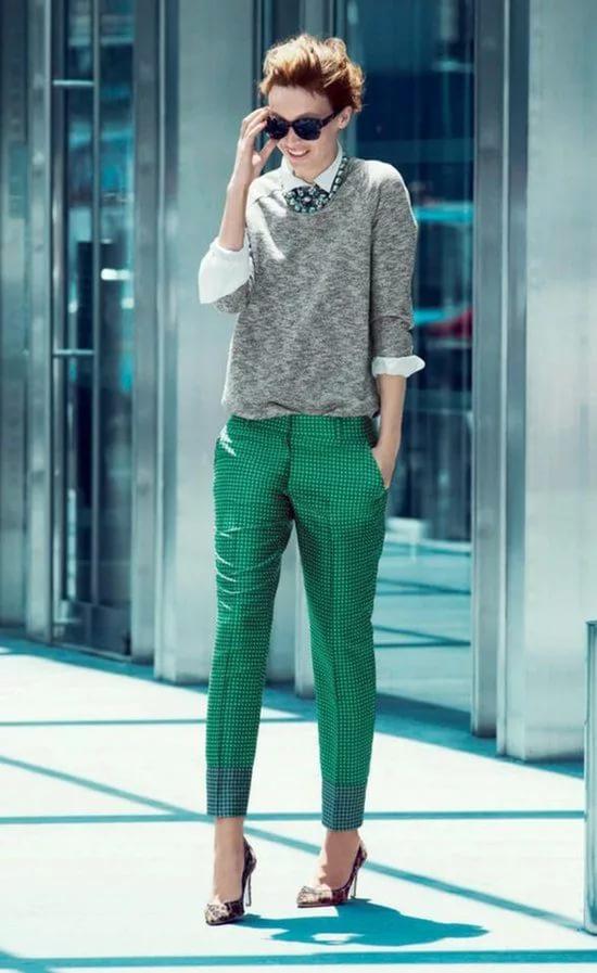 Восхитительное сочетание роскошного зеленого и элегантного серого | 12