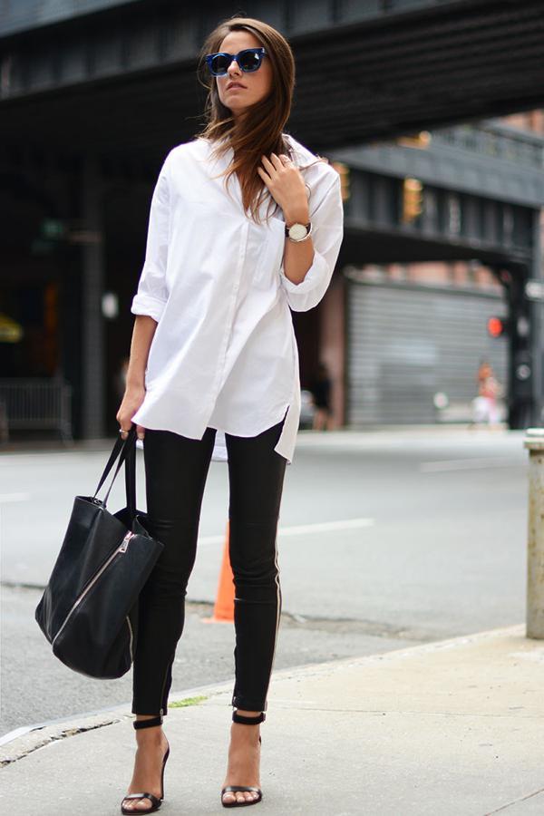 20 великолепных образов с белой блузкой | 12
