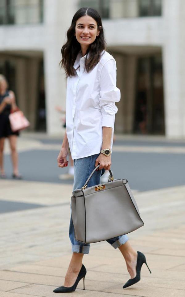 20 великолепных образов с белой блузкой | 15