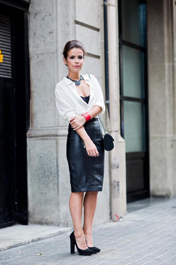 20 великолепных образов с белой блузкой | 16
