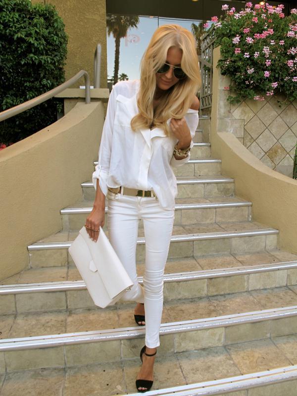 20 великолепных образов с белой блузкой | 17