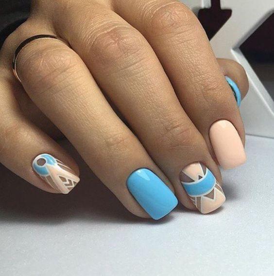 Модные тенденции маникюра для коротких ногтей | 2