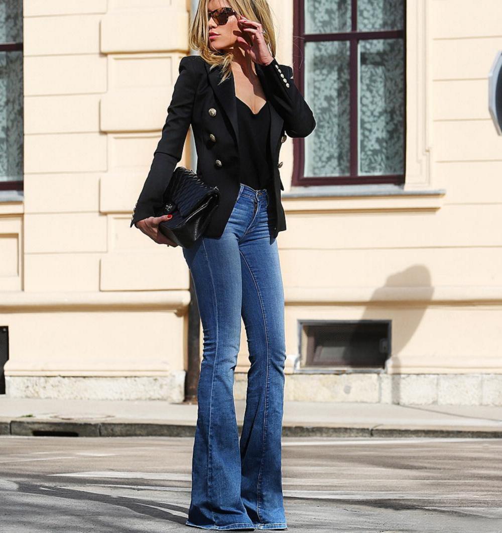 Модные женские джинсы сезона 2018 | 23