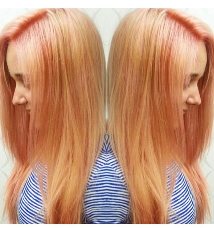 Окрашивание волос блоранж | 25