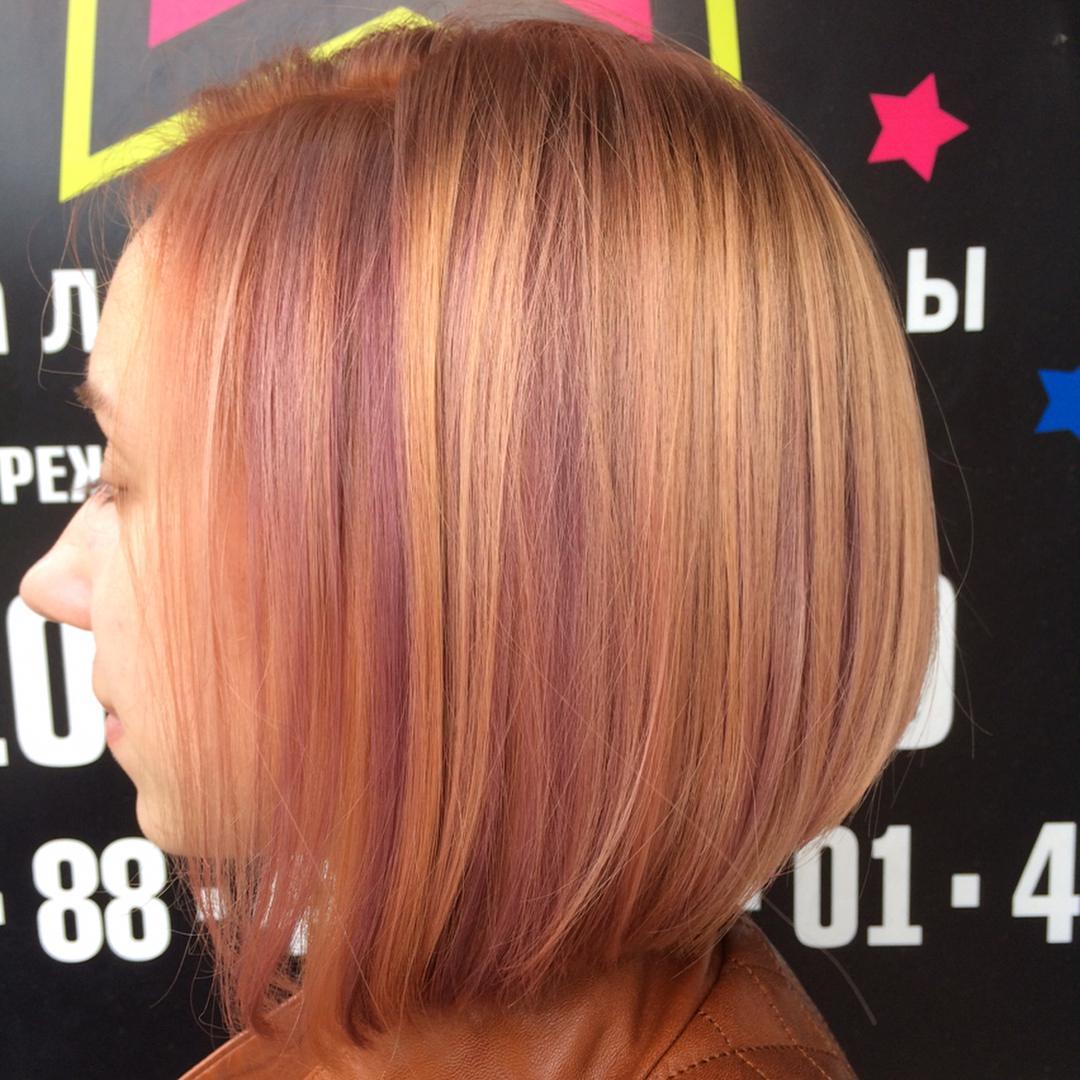 Окрашивание волос блоранж | 26