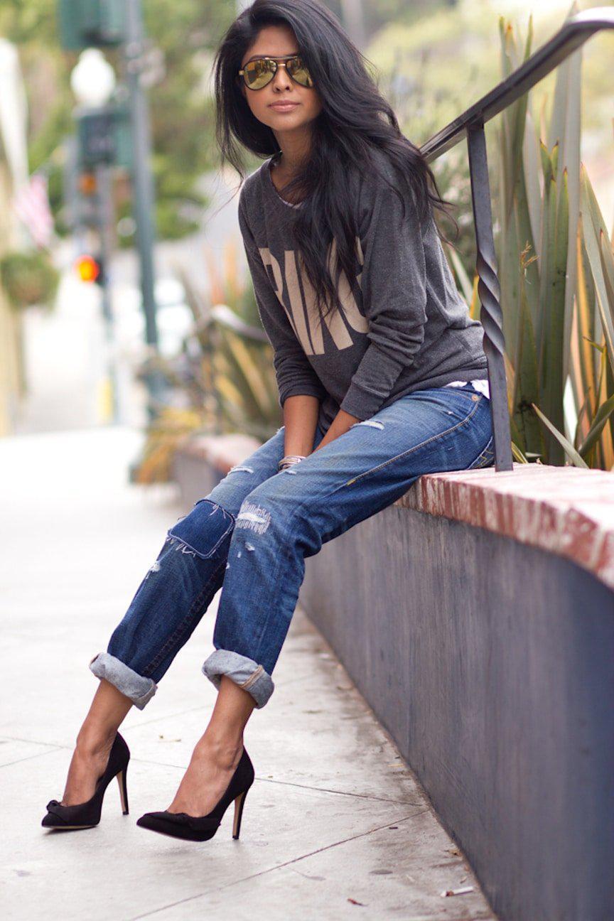 Модные женские джинсы сезона 2018 | 29