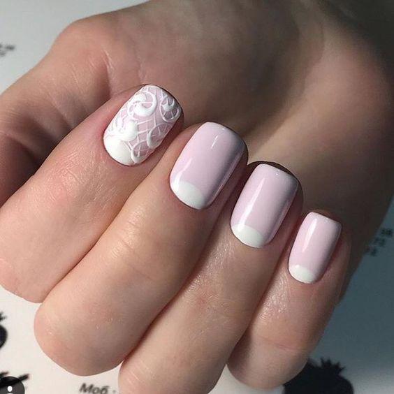 Модные тенденции маникюра для коротких ногтей | 32