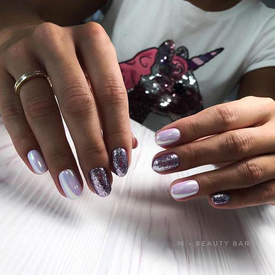 Модные тенденции маникюра для коротких ногтей | 37