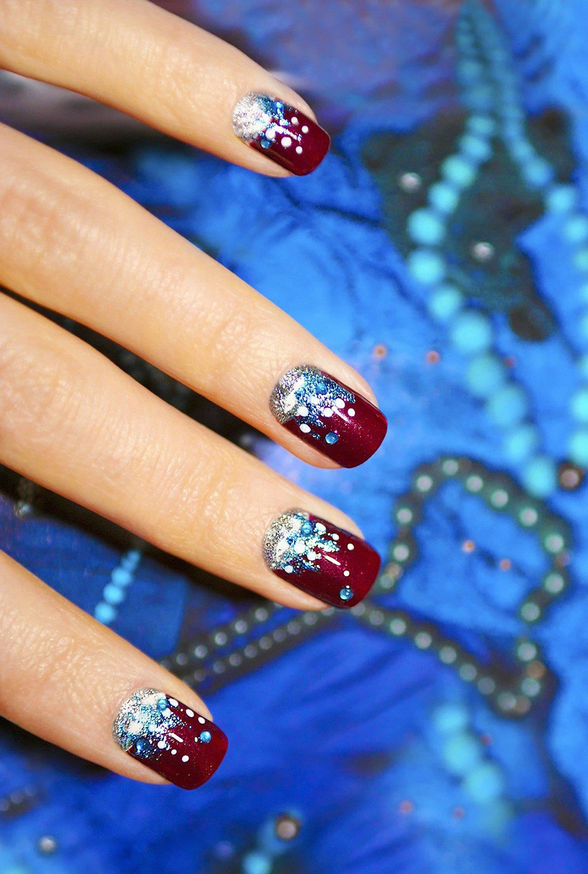Зимние дизайны ногтей 2018 новинки
