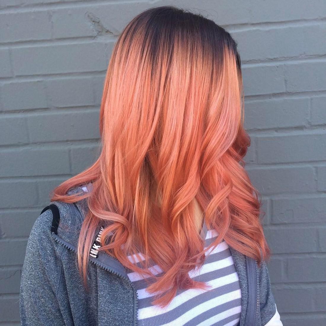 Окрашивание волос блоранж | 4